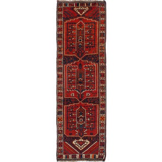 eCarpetGallery Hand-knotted Persian Vintage Red Wool Rug (3'3 x 10'11)