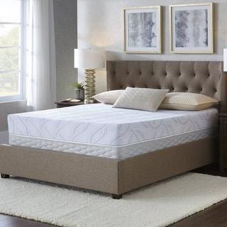 Serta Kirkshire 8-inch Queen-size Gel Memory Foam Mattress Set