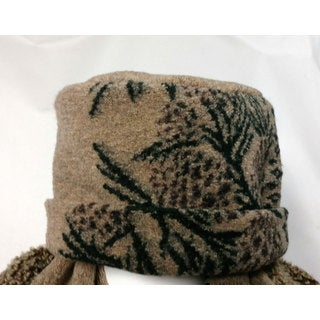 Mazmania Unisex Looped Wool Pine Cone Hat