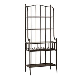 Hillsdale Furniture Indoor/Outdoor Baker's Rack in Antique Black Finish