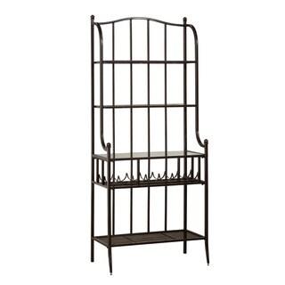 Hillsdale Furniture Indoor/Outdoor Baker's Rack in Antique Black Finish