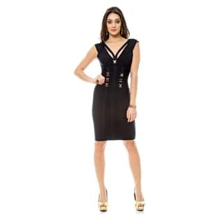 Sara Boo Embellished Bandage Dress with Cutout Back|https://ak1.ostkcdn.com/images/products/15275363/P21745315.jpg?impolicy=medium