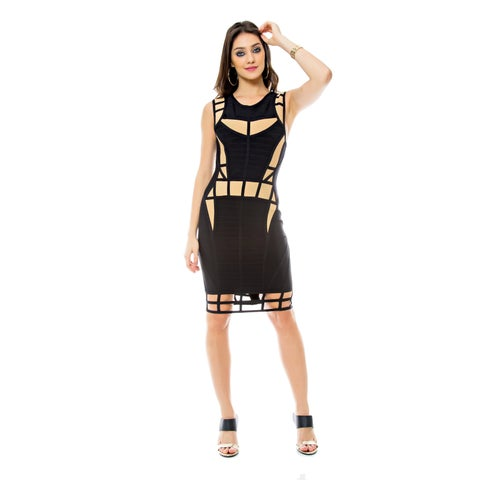 Sara Boo Illusion Bandage Dress