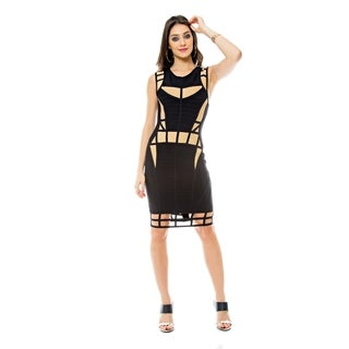 Sara Boo Illusion Bandage Dress (4 options available)