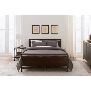 DHP Vintage Metal and Upholstered Full Bed