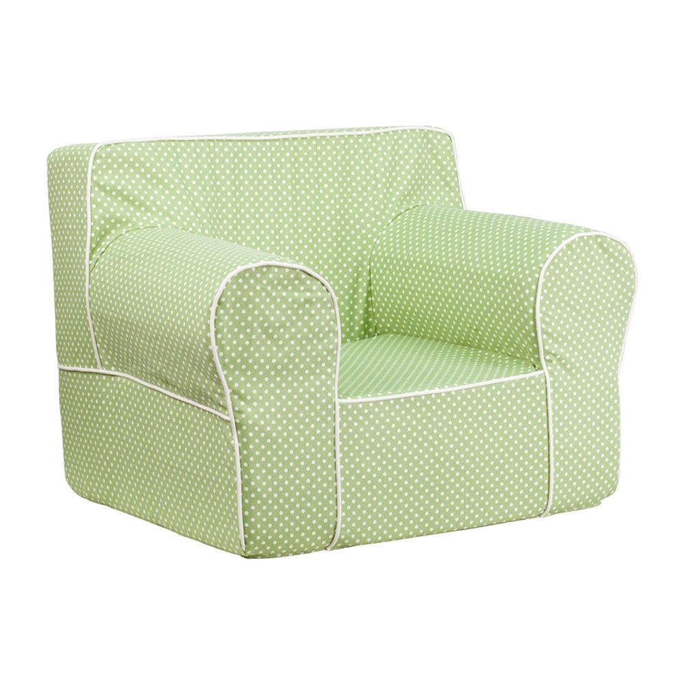Offex Oversized Dot Kids Chair with White Piping (Lavende...