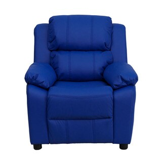 Offex Deluxe Heavily Padded Contemporary Kids Recliner With Storage Arms