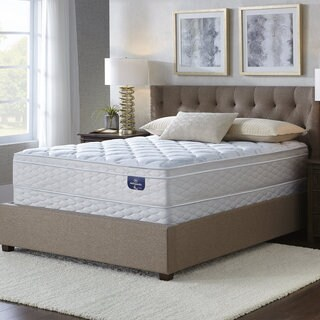 Serta Faircrest Eurotop Cal King-size Mattress Set