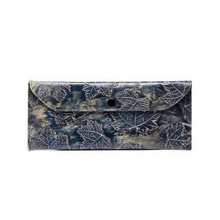 Viva Bags Metallic Leaf Print Envelope Clutch