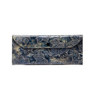 Viva Bags Metallic Leaf Print Envelope Clutch