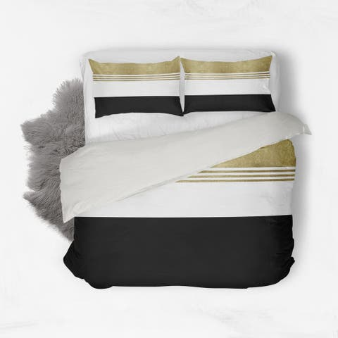 Oliver Gal Signature Collection 'ColorBlock' Cotton Duvet Cover