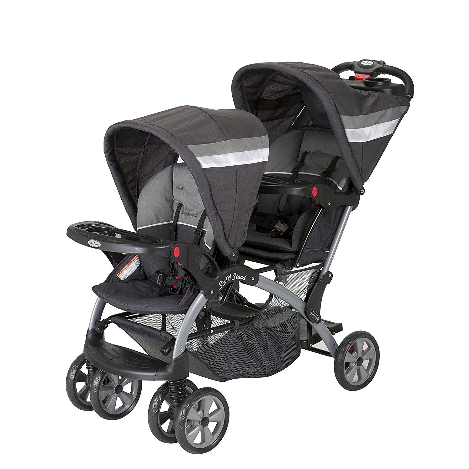 Baby Trend Sit N Stand Double Stroller, Liberty (Black, G...