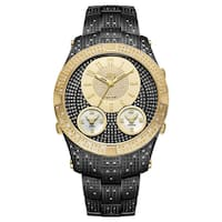 JBW Men's Jet Setter III Black Ion Plated Stainless Steel Diamond Watch
