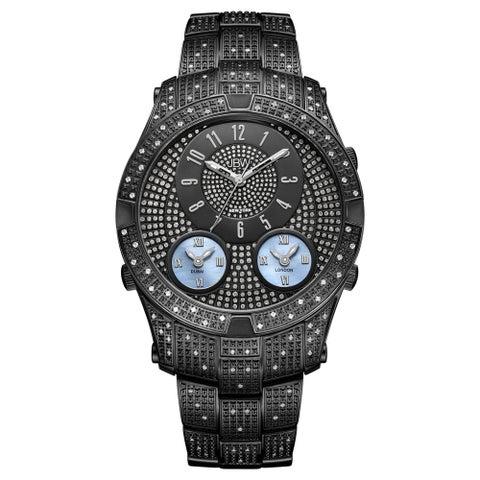JBW Men's Jet Setter III Black Ion-plated Stainless Steel Diamond Watch