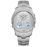 JBW Men's Jet Setter III Stainless Steel Diamond Watch - Silver