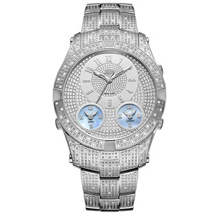 JBW Men's Jet Setter III Stainless Steel Diamond Watch