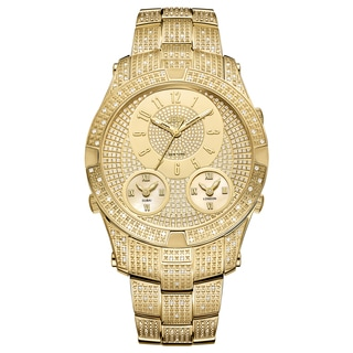 JBW Men's Jet Setter III 18k Goldplated Stainless Steel Diamond Accent Watch