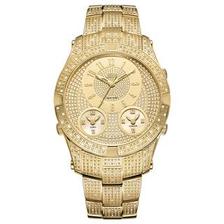 Jbw Men'S Jet Setter Iii Goldplated Stainless Steel Diamond Accent Watch