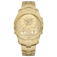 JBW Men's Jet Setter III 18k Goldplated Stainless Steel Diamond Accent Watch - Gold