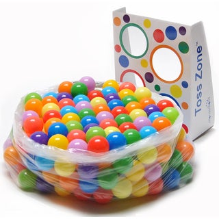 eWonderWorld Playball 300 Non-Toxic Phthalate Free Crush Proof Pit Balls 9 Solid Colors with Toss Zone, 6cm