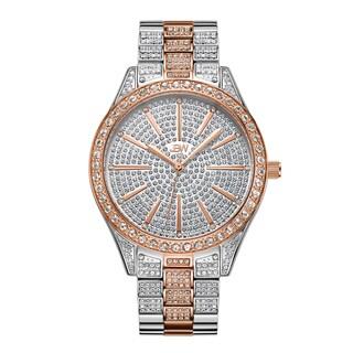 JBW Women's Cristal J6346E Two Tone Stainless Steel Diamond Watch