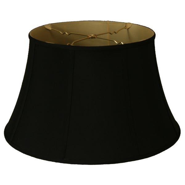 Royal Designs Shallow Drum Bell Billiotte Lamp Shade, Black, 9.5 x 15 x 8, BS-711-15BLK