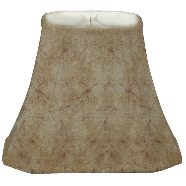 Royal Designs Rectangle Cut Corner Lamp Shade, Faux Rawhide, 7 x 10 x 12.25 x 18 x 13.25