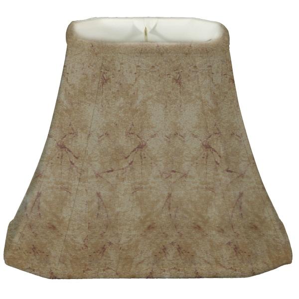 Royal Designs Rectangle Cut Corner Lamp Shade, Faux Rawhide, 7 x 9 x 10.25 x 16 x 12.25