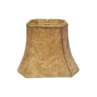 Royal Designs Square Cut Corner Bell Basic Lamp Shade, Faux Rawhide, 9 X 16