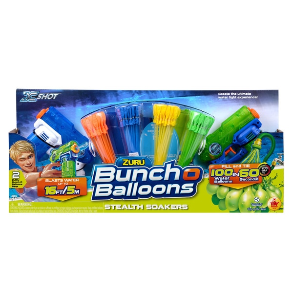 Bunch O Balloons Mega Pack 4 Bunches O Balloons and 2 Stealth Soakers