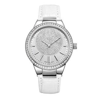 JBW Women's Camille J6345B Genuine Leather Diamond Watch