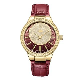 JBW Women's Camille J6345A Genuine Leather Diamond Watch