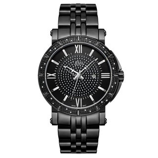 JBW Men's Vault J6343D Black Ion-Plated Stainless Steel Diamond Watch