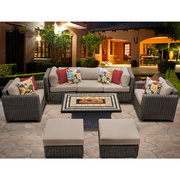 Venice 8 Piece Outdoor Wicker Patio Furniture Set 08d Free