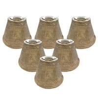 "Royal Designs Mouton Bell Chandelier Lamp Shade, 3"" x 6"" x 4.25"", Clip On- Set of 6"