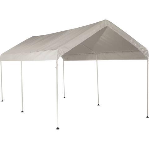 ShelterLogic White Cover 10' x 20' 6-leg Frame Canopy