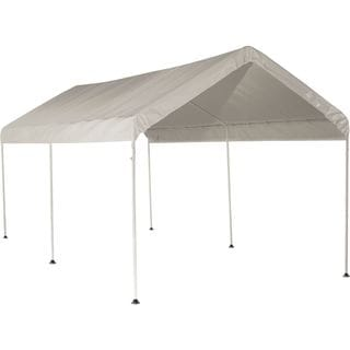 ShelterLogic White Cover 10' x 20' 6-leg Frame Canopy