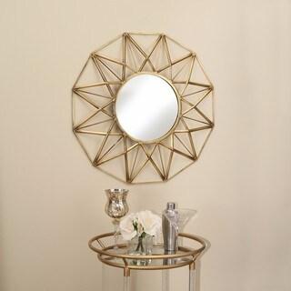 Abbyson Living Cyrus Goldtone Round Mirror