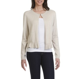 89th & Madison Women's Ruffle Hem Cardigan (More options available)