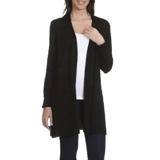 89th & Madison Women's Shadow Stripe Flyaway Cardigan