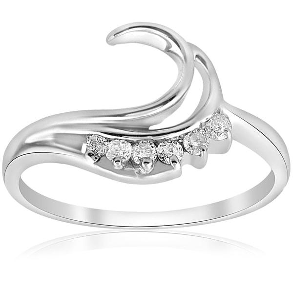 Diamond Wedding Band in 10K White Gold 1//6 cttw, G-H,I2-I3 Size-9