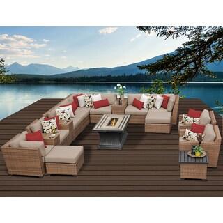 Laguna 17 Piece Outdoor Wicker Patio Furniture Set 17b