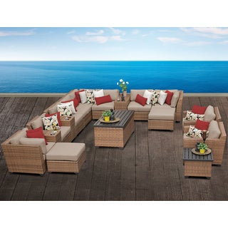Laguna 17 Piece Outdoor Wicker Patio Furniture Set 17a