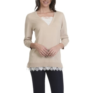 89th & Madison Women's Mock 2Fer Sweater