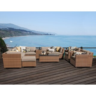 Laguna 12 Piece Outdoor Wicker Patio Furniture Set 12b