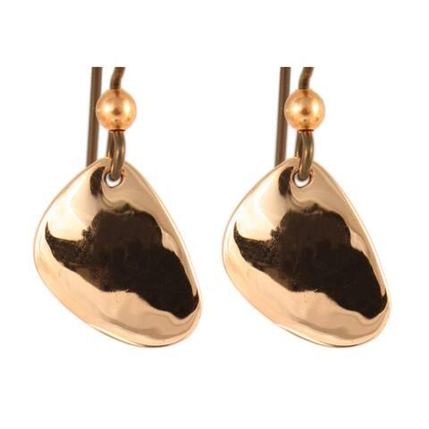 Handmade Copper Agni Drops Earrings (United States)