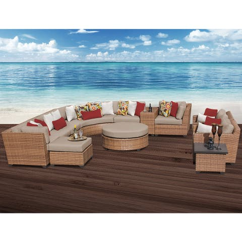 Laguna 12 Piece Outdoor Wicker Patio Furniture Set 12a