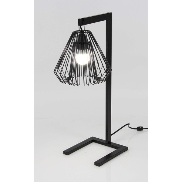Shop benzara black metal wire table lamp ships to canada benzara black metal wire table lamp greentooth Choice Image