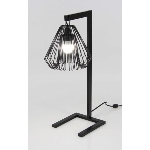 Benzara black metal wire table lamp free shipping today benzara black metal wire table lamp greentooth Images