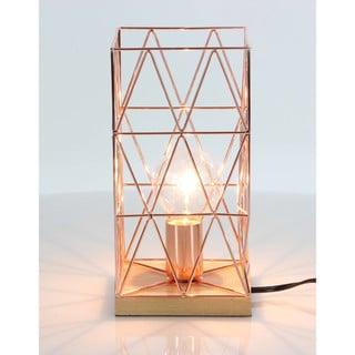 Benzara Charming Metal Wood Copper Accent Lamp